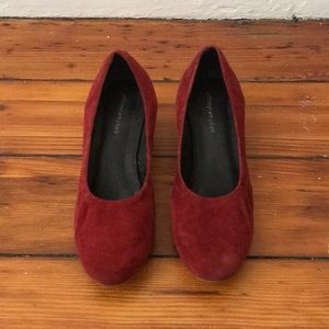 Jeffrey Campbell red suede pumps size 7.5